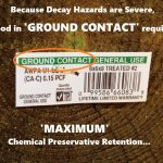 Improve GROUND CONTACT post decay resistence