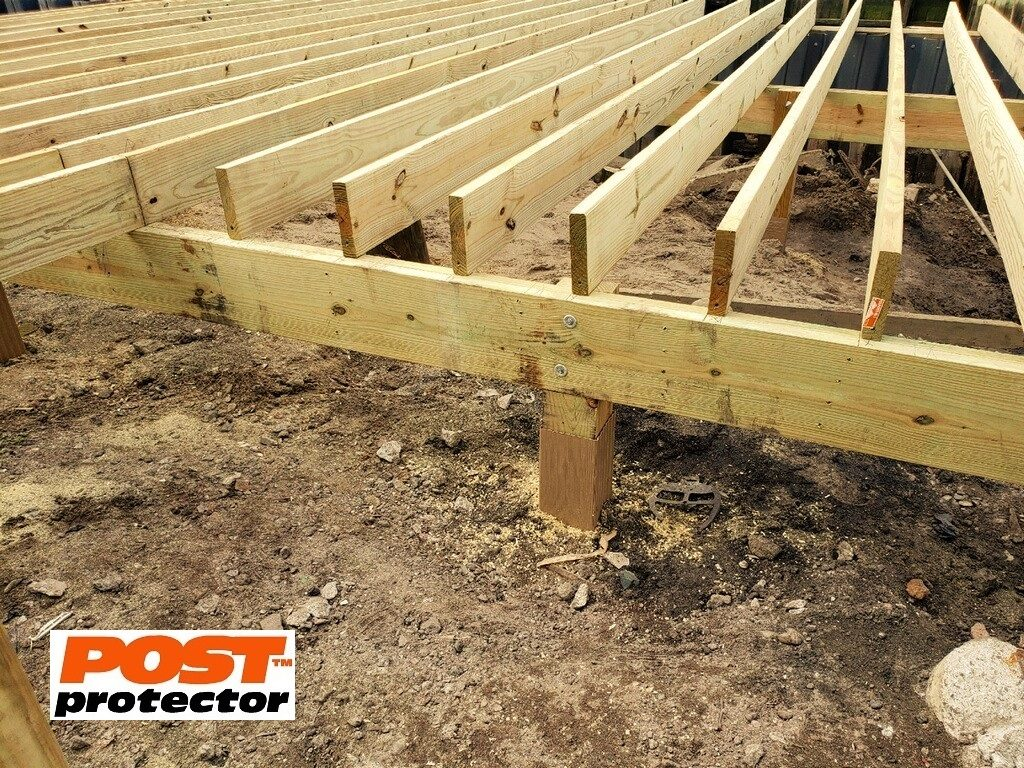 post protector for deck post