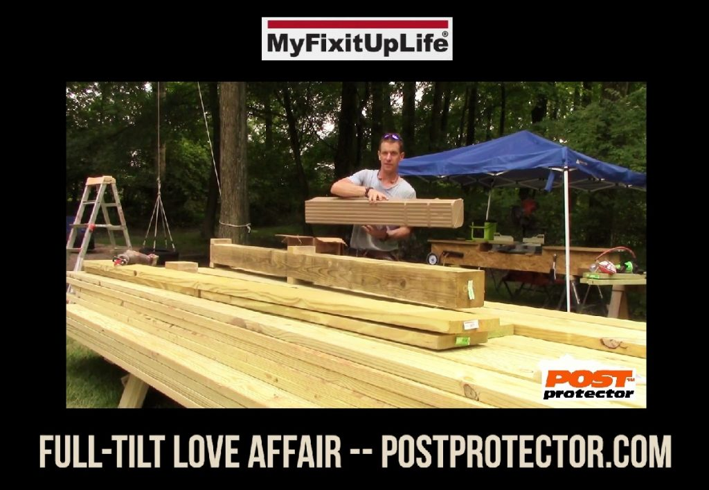 MYFIXITUPLIFE 6x6 Deck Posts with Post Protector Love Affair