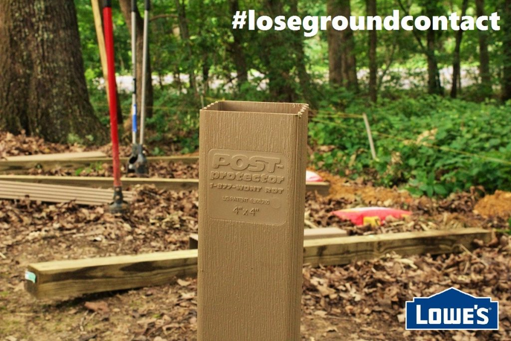 Post Protector 4x4 post sleeve at Lowes