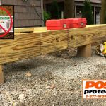 6x6 pressure treated Deck Posts with Post Protector