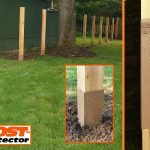 Post Protector 30 inch Grade Guard Post Decay Protection Cedar Fence