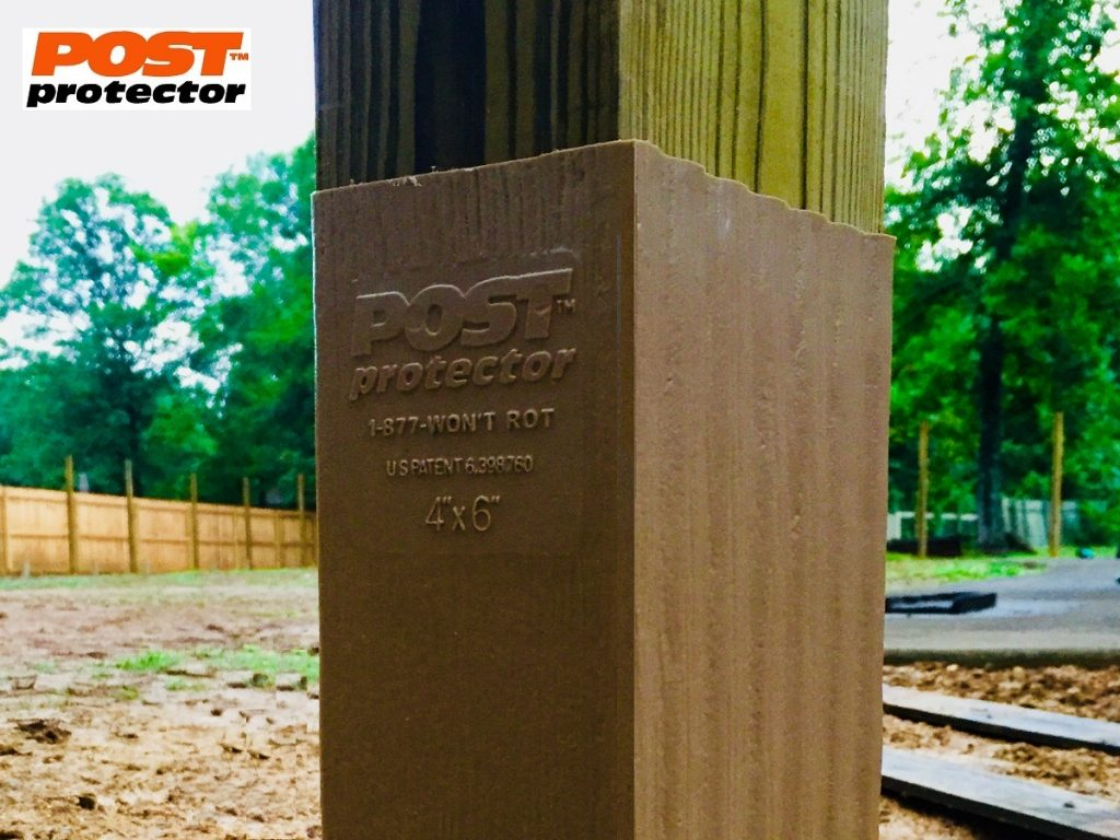 Post Protector for 4x4 or 4x6 fence post