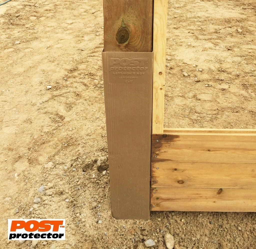 Post Protector 6x6 post sleeve for pole barn