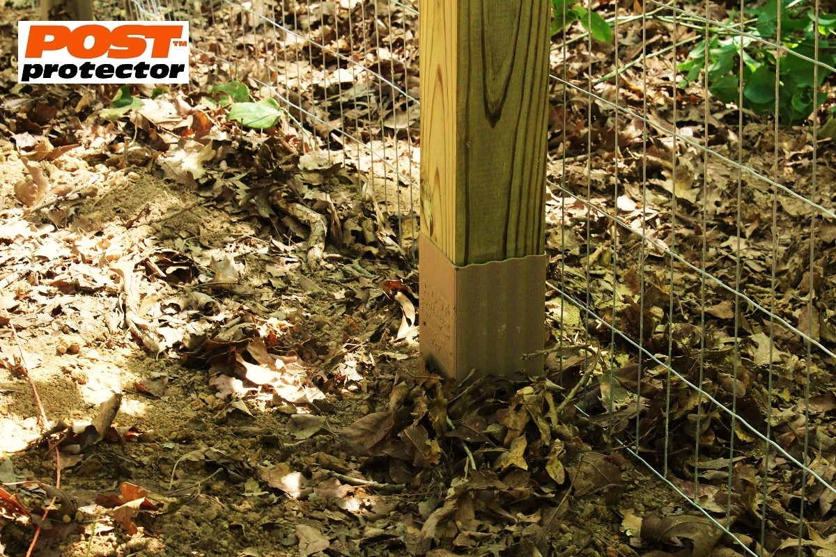 Post Protector Protects 4″ x 4″ Fence Posts