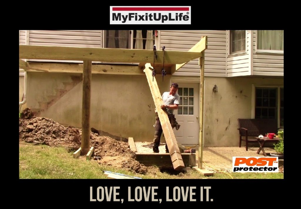 MYFIXITUPLIFE 6x6 Deck Posts with Post Protector Love it