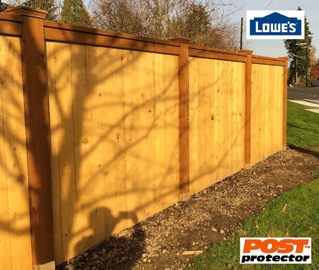 Lowes Post Protector 6x6 fence posts
